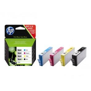 HP 364 - pack de 4 - noir, jaune, cyan, magenta - originale - cartouche d'encre